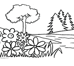 Flower Coloring Pages Online Free Flower Colouring Pages Adults