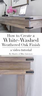 whitewash wood furniture. How To Achieve A White-washed Weathered Oak Finish On Plain Smooth Pine By Creating Raised Grain, Staining And Sealing, Then Using White Wax. Whitewash Wood Furniture