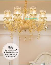 Großhandel Wohnzimmer Kristall Kronleuchter Schlafzimmer Licht Hotel Sales Center Führte Kronleuchter Champagner Kronleuchter Beleuchtung Vintage
