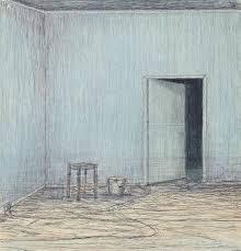 Half open door drawing Mystical John Davies b 1946 Christies John Davies b 1946 Room halfopen Door 20th Century