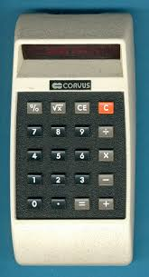 datamath corvus the consumer division of the famous ic manufacturer mostek introduced the model 310 a basic four function calculator added square root