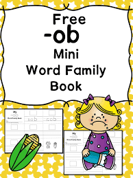 OB CVC Word Family Worksheets -Make a word family book!