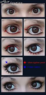 cosplay make up tutorial female eyes by jackychip deviantart on