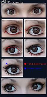 cosplay make up tutorial female eyes by jackychip deviantart on deviantart