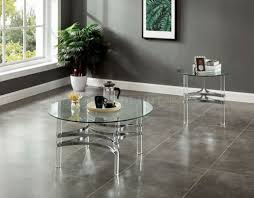Brass chrome glass top oval coffee table this glass top coffee table embodies what's best in contemporary. Tirso 3pc Coffee End Table Set Cm4350 In Chrome