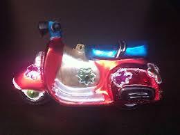 Inge Glas Weihnachtsschmuck Motorroller Rot 66219