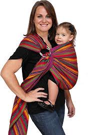 Amazon.com : Maya Wrap Lightly Padded Ring Sling Baby Carrier ...