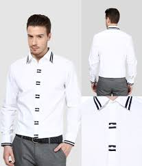 Designer Party Wear Shirts India Dazzio White Partywear Shirt