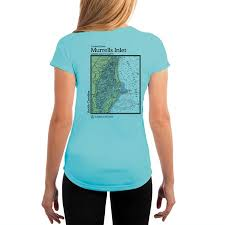 Murrells Inlet Chart Womens Upf 50 Uv Sun Protection Short Sleeve T Shirt