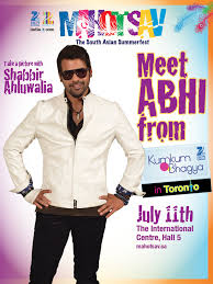 shabbir ahluwalia aka abhi the rockstar from zee tv show bhagya enthralls the canadian aunces at tsav