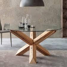 glass table oak legs gallery table decoration ideas