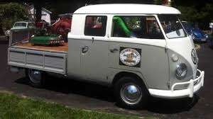 Volkswagen Type 2 T1 pick up truck 3 doors 360 degrees walk around ...