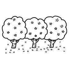 桜の木 イラスト 白黒の検索結果 Yahoo検索画像