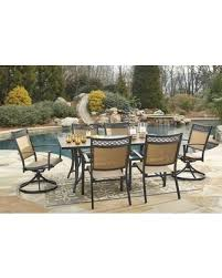 lovely outdoor dining table sets bargains on christie collection od 365 rect4c2sc 7 piece outdoor