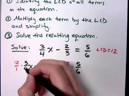 beginning algebra part 16 solving linear equations by clearing fractions clipzui com