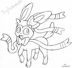 Small Picture Pokemon Coloring Pages Sylveon Pokemon Coloring Pages Eevee