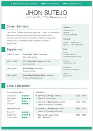 Curriculum Vitae Template Free Stunning Single Page Curriculum Vitae Template In 48 Basic ColorsIt's Created