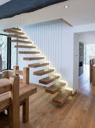 staircase lighting ideas. Contemporary Wood Floating Staircase In Other With Open Risers. Lighting Ideas