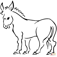 Small Picture Donkey coloring page Free Printable Coloring Pages