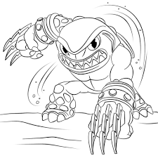 Small Picture Skylanders Terrafin coloring page Free Printable Coloring Pages