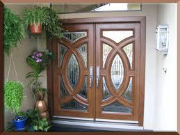 Fiberglass Exterior Double Doors Without Glass • Exterior Doors Ideas