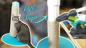 diy cat scratching post using pvc pipe