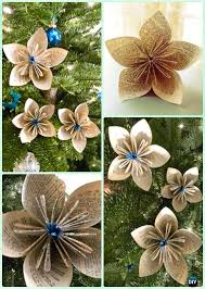 Paper Flower Christmas Tree Diy Paper Christmas Tree Ornament Craft Ideas Instructions