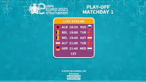 eEURO 2021 Play-Offs Round: Matchday 1 - YouTube