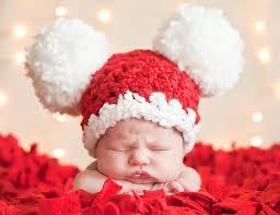 Baby Christmas Hat Baby Santa Hat Newborn Baby Girl Hat
