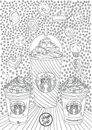 Coloriage Starbucks Color Coloring Books Coloring Pages