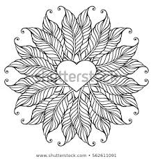 Coloring Page Adult Older Children Bohemian Stock Vector Royalty