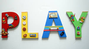lettering play game room wall art sports text hangable do it yourself phenomenal kids bedroom