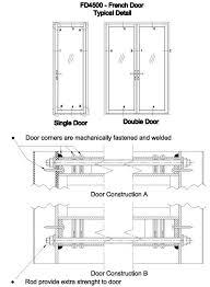 drawn door section 119530