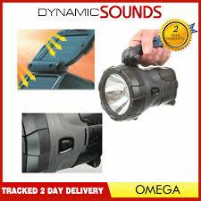 Omega Light Flashlight Rechargeable 1 Watt Ac Solar High Power Led Spotlight Torch Light Camping
