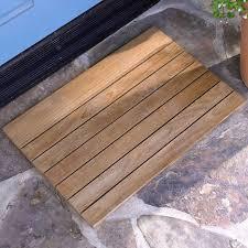 Teak Slatted Wooden Doormat