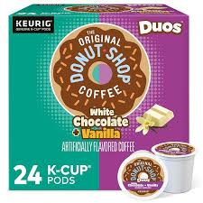 4.7 out of 5 stars with 170 reviews. The Original Donut Shop Duos White Chocolate Vanilla Coffee Keurig K Cup Pods Medium Roast 24 Count In 2021 Single Serve Coffee Makers White Chocolate Vanilla Coffee