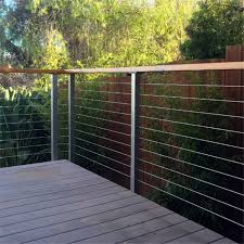 steel cable railing. Square Side Mount Cable Railing For Decks, Can Be Customized As Per Your Requirement Steel A