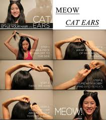 Cat Hair Style  style your hair meow cat ears ohso wai rapunzle 3086 by stevesalt.us