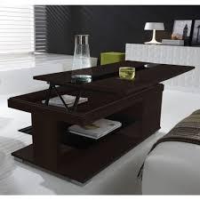 Table Basse Relevable Weng Et Verre Noir Meuble