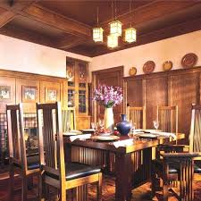 arts and crafts kitchen lighting arts crafts style dining room with lantern chandelier arts crafts kitchen