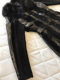 women jacket with genuine python skin suede leather and wool natural fox fur around the neck