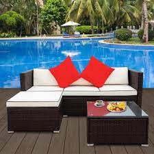brown outdoor couches outdoor