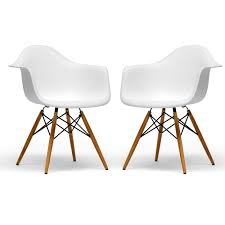 this set of two retro accent chairs will add a classic look to any living space
