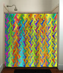colorful shower curtains. Wonderful Bright Shower Curtains And Rainbow Colors Multicolor Colorful Curtain