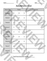 Point System Chart For Behavior Behavior Chart