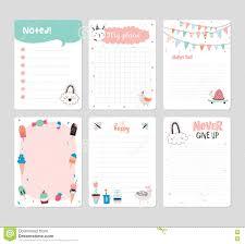Cute Calendar Daily Planner Stock Vector Illustration Of