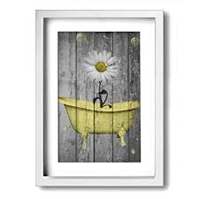 Image Decor Ideas Image Unavailable Amazoncom Amazoncom Aleart Rustic Picture Frame Bathroom Wall Art Daisy