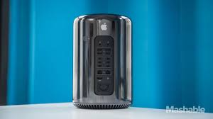 apple mac pro. the new mac pro is 1/8 size of old model, but apple