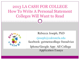Personal Statement College How To Write A Personal Statement Colleges Will Want To Read