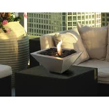 anywhere fireplace 12 in empire tabletop stainless steel ethanol fireplace